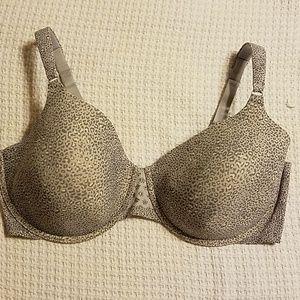 Size 42D gray animal print bra